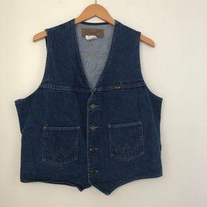 Vintage Wrangler Denim Button Down Vest